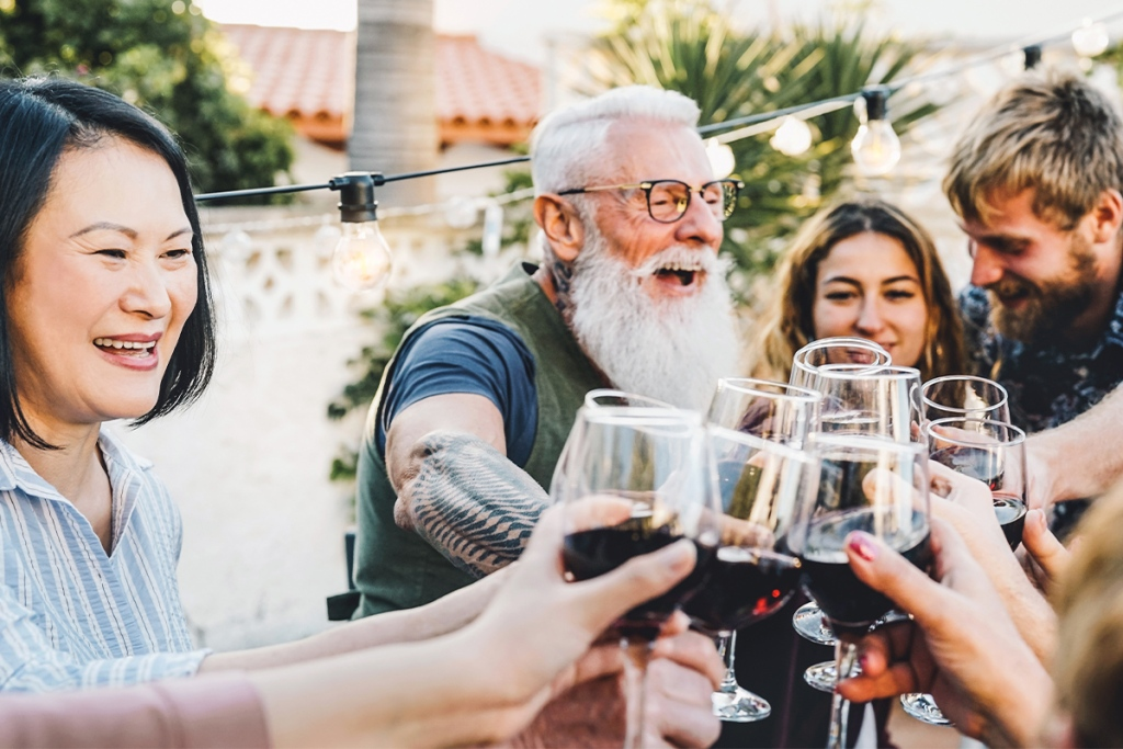 Millennials and baby boomers enjoying rental perks together from a property manager