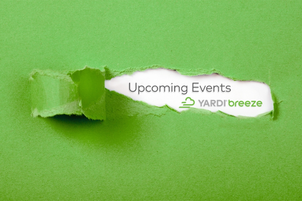 Attend these upcoming digital property management events and conferences with Yardi Breeze