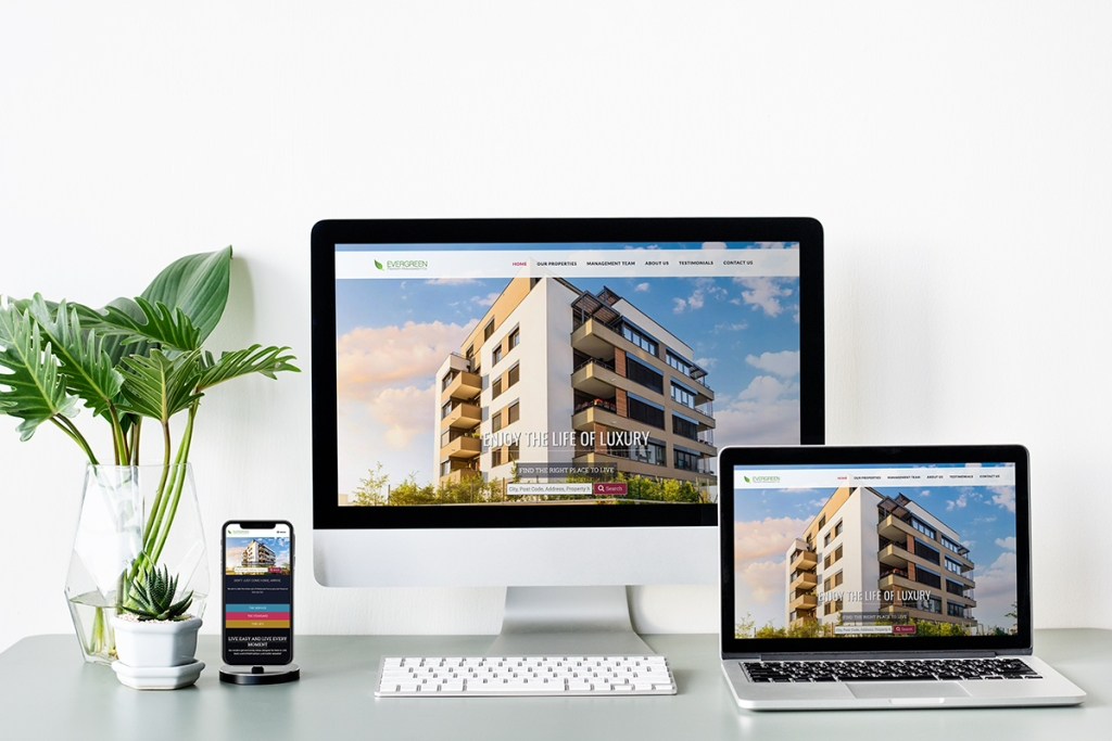Three screens to show that Yardi make your property management business a professional website