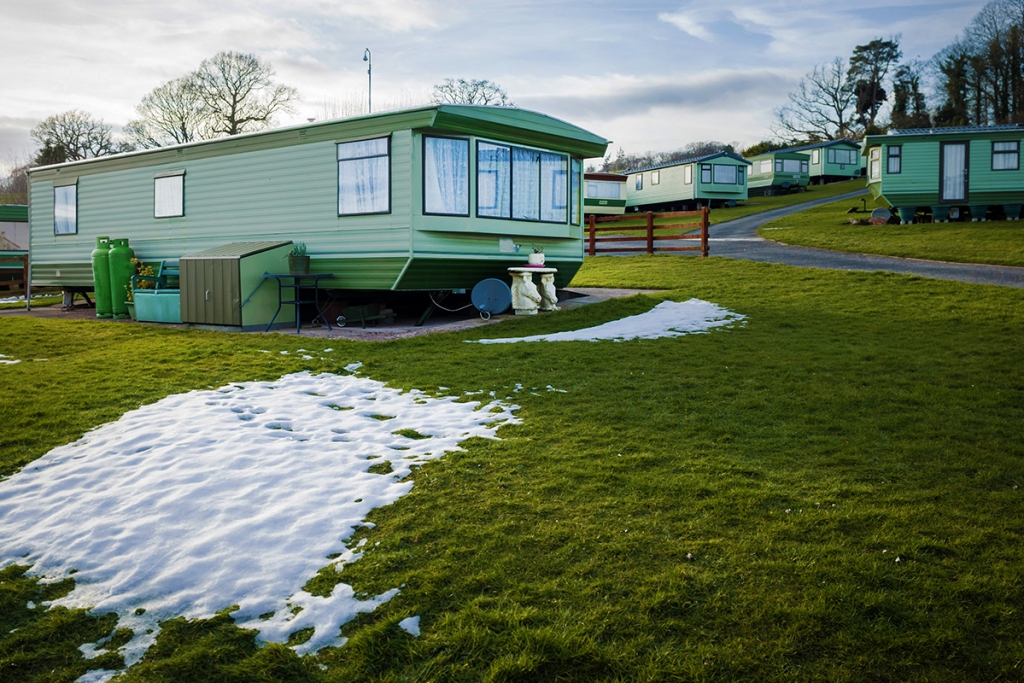 Manufactured home that needs to be winterized