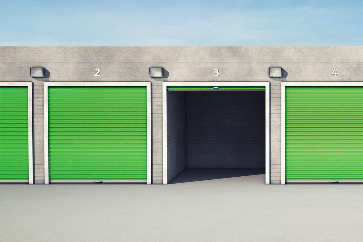 Open self storage facility