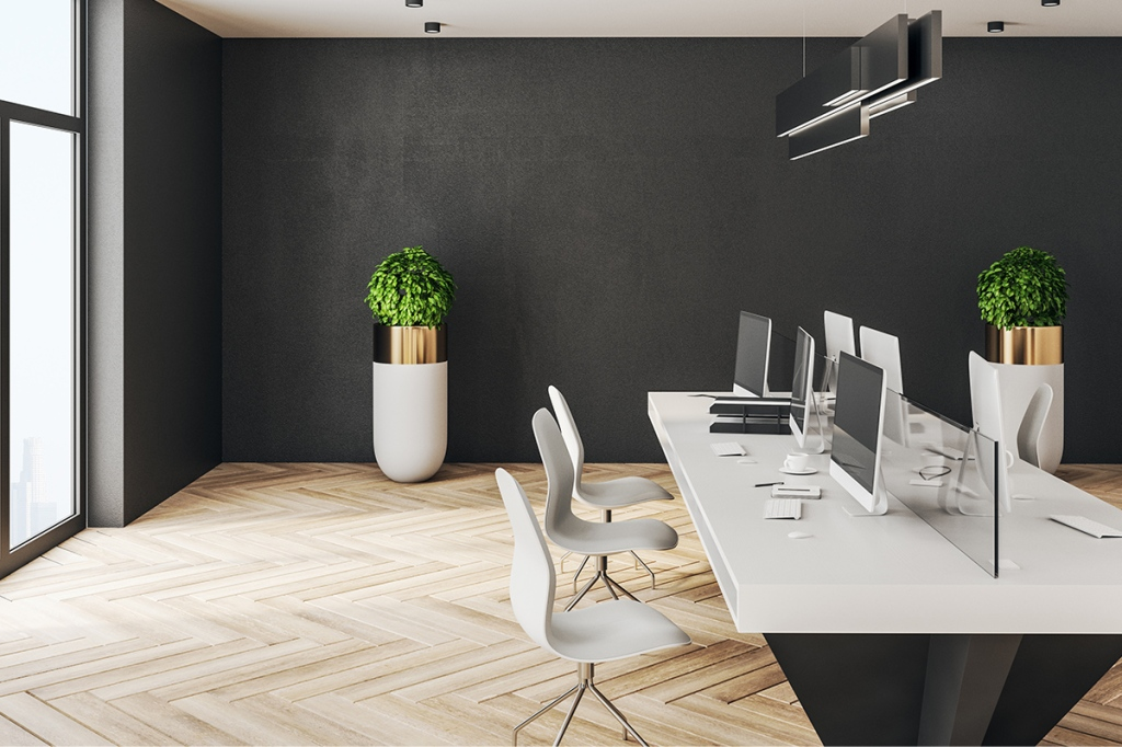 Coworking space in a multifamily property